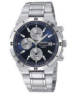 Seiko Watch, Mens Chronograph Stainless Steel Bracelet 38mm SNA695   Watches   Jewelry & Watches