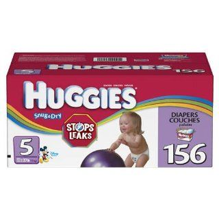 Huggies Snug & Dry Diapers, Size 5, 156 Count Health & Personal Care