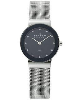 Skagen Denmark Watch, Womens Stainless Steel Mesh Bracelet 358SSSBD   Watches   Jewelry & Watches