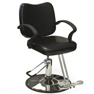 Hydraulic Barber Chair Styling Salon Work Station Chair Black Modern Design New: Beauty