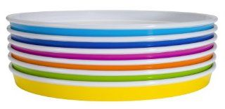 Zak Designs Park 6 Piece Dinner Plate Set, Assorted Colors: Kitchen & Dining
