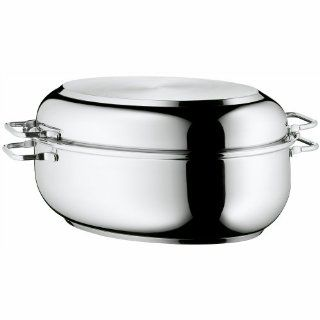 WMF Stainless Steel Deep Oval Roasting Pan, 16 1/4 Inch Kitchen & Dining