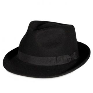 City Hunter Pmw81 Pamoa Wool Felt Fedora with Bow Trim (4 Colors) at  Men�s Clothing store