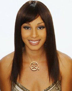 Janet Collection 100% Human Hair Wig Cleopatra Color 1B Health & Personal Care