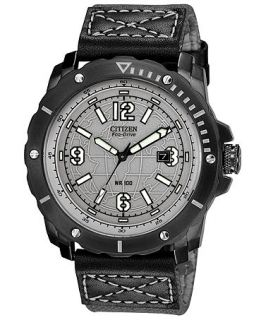 Citizen Mens Drive from Citizen Eco Drive Gray Nylon Strap Watch 46mm BM7276 01H   Watches   Jewelry & Watches