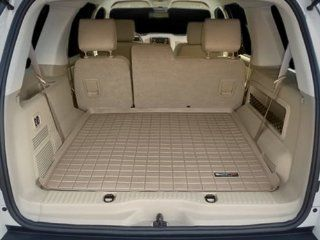 2004 2010 Ford Explorer Tan WeatherTech Cargo Liner [For Vehicles Equipped with 3rd Row Seating; Coverage Behind 2nd Row] Automotive