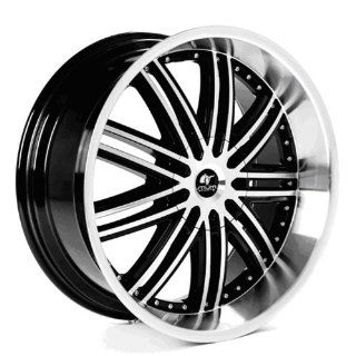 MUM Sports JS 09   22 inch Matte Black Machined Face Wheels Rims (22x9.5 6x135/139.7 ET+30)   SET OF 4   Automotive