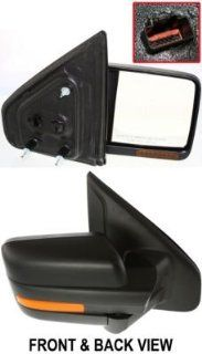 Kool Vue FD131ER S Mirror Corner mount Type Passenger Side RH Plastic Primered Power Manual folding Heated In housing Automotive