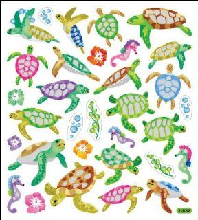 Multi Colored Stickers Sea Turtles   Childrens Decorative Stickers
