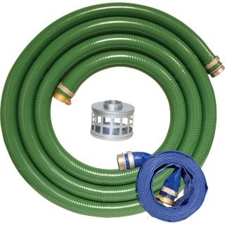 Apache Pump Hoses with Combo Kit — 3in., Model# 98128660  Discharge   Suction Hoses