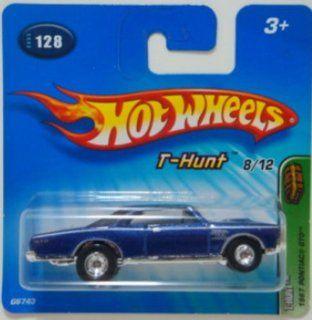 Hot Wheels 2005 Treasure Hunt 164 Scale Blue 1967 Pontiac GTO 8/12 Die Cast Car #128 Toys & Games