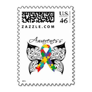Tattoo Butterfly Awareness   Autism Postage Stamps