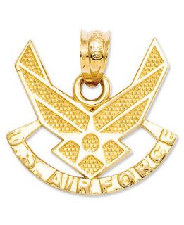 14k Gold Charm, U.S. Air Force Charm   Jewelry & Watches