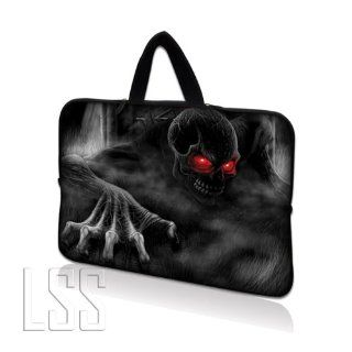 "LSS 17 inch Laptop Sleeve Bag Carrying Case Pouch with Hidden Handle for 17.4"" 17.3"" 17"" 16"" Apple Macbook, GW, Acer, Asus, Dell, Hp, Sony, Toshiba, Red Eye Dark Ghost Zhombie Skull: Computers & Accessories"