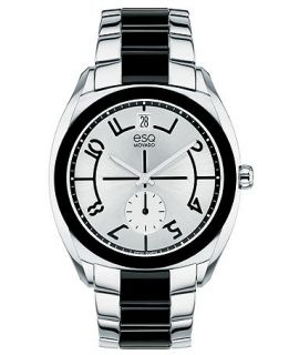 ESQ Movado Watch, Womens Swiss Origin Black Link Stainless Steel Bracelet 36mm 7101427   Watches   Jewelry & Watches