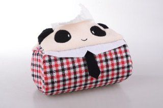 Funny Panda Animal Fabric Cloth Tissue Box Cover Holder   Car Tissue Box Cover