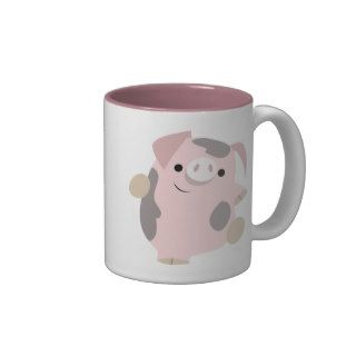 Cute Cartoon Dancing Pig Mug