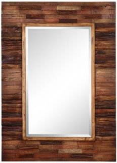 "Rustic Getaway Rectangular 40"" High Wall Mirror"
