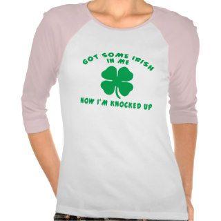 Funny Irish Pregnant Maternity Tee Shirt
