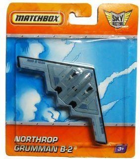 2010 Matchbox Sky Busters NORTHROP GRUMMAN B 2 (Nation Guard) blue grey bomber plane: Toys & Games