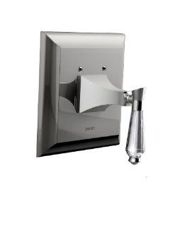 Santec 9231DC70 TM Edo Crystal Polished Nickel Pressure Balance Shower   Trim Only W/ Dc Handle (Includes Square Shower Plate   Faucet Trim Kits