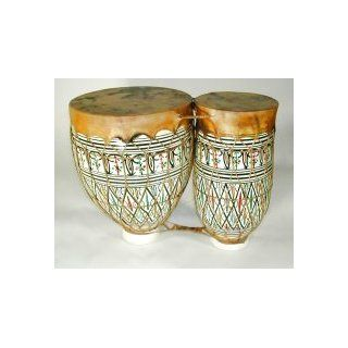 CasaPercussion Clay Bongo Double Drums (Extra Small): Musical Instruments