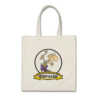 WORLDS GREATEST GRUMPY OLD MAN CARTOON BAG
