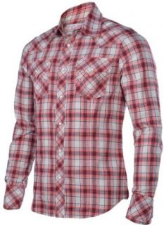 True Religion Brand Jeans Mens Rocky Poplin Plaid Western Shirt Red Small at  Men�s Clothing store: Button Down Shirts