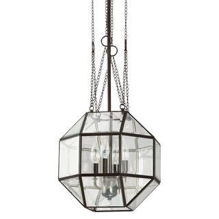 Lazlo Medium 4 light Heirloom Bronze/ Clear Glass Pendant