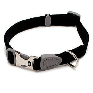 Petmate Signature Series 1 Inch by 18 26 Inch Adjustable Collar, Black  Pet Collars