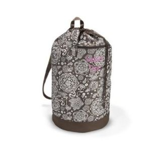 Thirty One Cinch It Up Super Sac in Brown Woodblock Floral   No Monogram   4248 Shoes