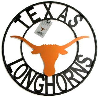 NCAA Texas Longhorns Collegiate Wrought Iron Wall Decor, 18 Inch, Black with Texas Burnt Orange  Sports & Outdoors