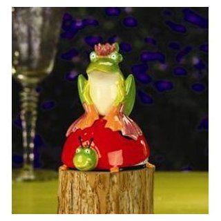Patience Brewster Krinkles Frog & Ladybug Salt and Pepper   Salt And Pepper Mills