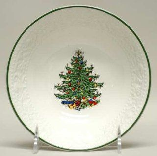 Cuthbertson Dickens Embossed Christmas White Coupe Cereal Bowl, Fine China Dinnerware: Kitchen & Dining