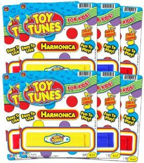 Ja Ru Toy Tunes Harmonica Party Favor Bundle Pack: Toys & Games