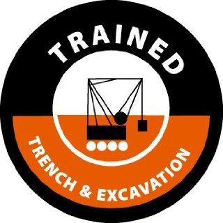 HARD HAT EMBLEMS TRAINED TRENCH & EXCAVATION   Hardhats