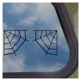 Corner Spider Web Black Decal Car Truck Window Sticker   Automotive Decals