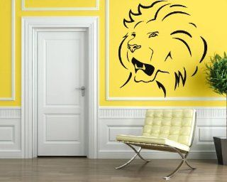 Wall Stickers Vinyl Decal Lion Predator Power Animal Rage ig048   Wall Decor Stickers