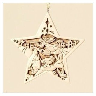 "Woodland Inspirations Holy Family 5 Point Star Christmas Ornament 4""   Christmas Ball Ornaments"