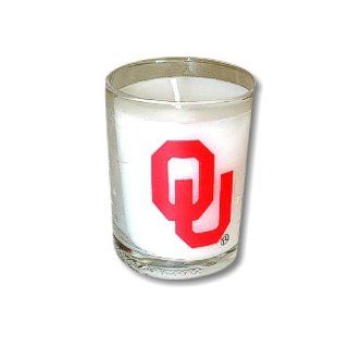 University of Oklahoma Norman OU Sooners   Votive Candle in Glass   w/ OU logo design  Sports & Outdoors