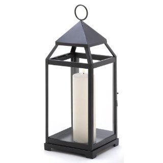 Gifts & Decor Large Contemporary Hanging Metal Candle Holder Lantern   Outdoor Candle Lantern