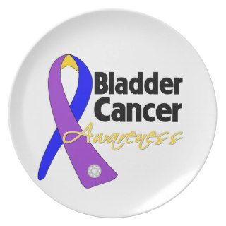 Bladder Cancer Awareness Ribbon Party Plates