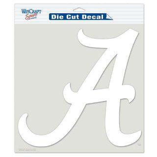 Alabama Crimson Tide NCAA Vinyl Die Cut Window Decal Auto Car Logo White 8x8 Sticker College Licensed Team Logo : Sports Fan Automotive Flags : Sports & Outdoors