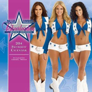 2014 DALLAS COWBOYS CHEERLEADERS SWIMSUIT POSTER Wall Calendar: Office Products