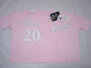 Arizona Diamondbacks Luis Gonzalez Player Name & Number Girls Youth Jersey T Shirt Size 6X  Athletic T Shirts  Sports & Outdoors
