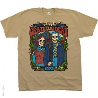 Good Ol' Gothic Grateful Dead T shirt 1972 Concert T Shirt, Vintage Super Premium Quality Band Shirt, Medium, Cream (As Pictured): Clothing