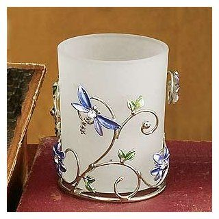 Dragonfly Candle Holder Floral Decoration Candelabra Votive Tealight