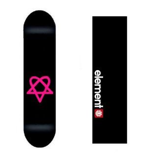 Bam Heartagram Pro New HIM Skateboard Deck w/ Element Grip : Sports & Outdoors