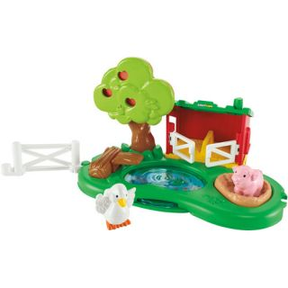 Fisher Price Little People Farm Pond & Pig Pen Play Set: Dolls & Dollhouses