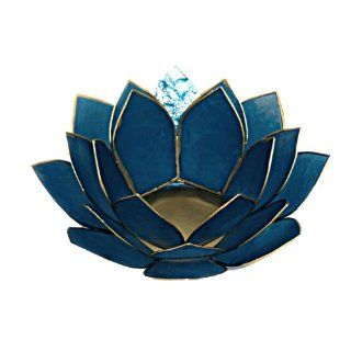 Shop Lotus Tea Light Candle Holder Capiz Shell Decorating Accent Home Decor Gift Ideas (Royal Blue) at the  Home D�cor Store. Find the latest styles with the lowest prices from The Crabby Nook